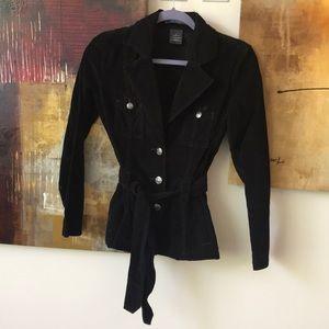 Black Corduroy Jacket / Blazer